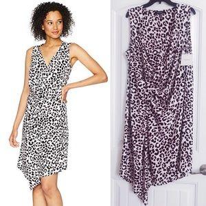 🆕✨Ellen Tracy Bali Leopard Twisted Front Dress XL